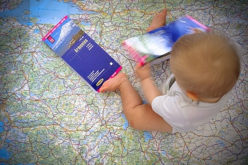 overland travel, travel by car, travel with baby