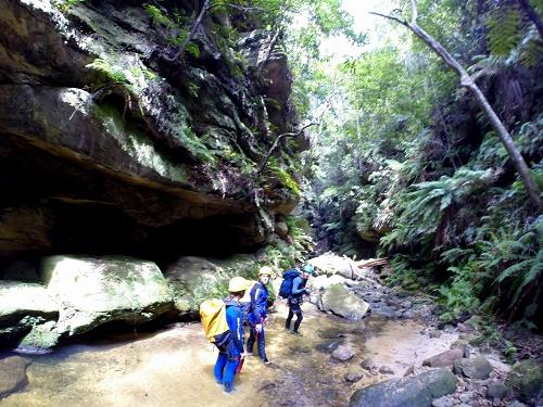 Australia travel, Blue Mountains, canyoning, abseiling, Katoomba