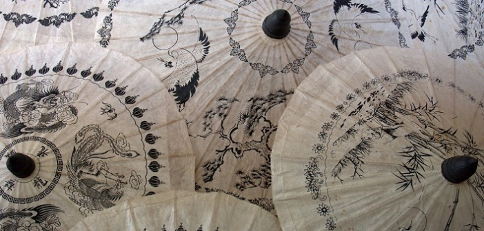 Bo Sang Thailand, traditional umbrella making in Thailand, Thailand tradition