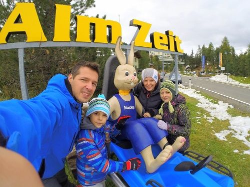 austria for kids, austria with kids, carinthia travel, nocky flitzer tobogganing