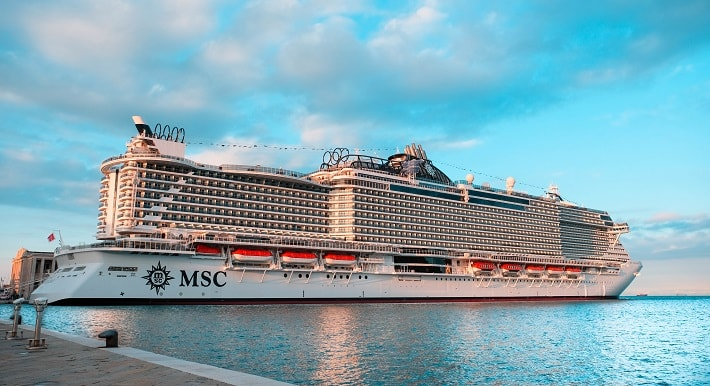 MSC Seaside – the new cruise ship, which knocked us off the