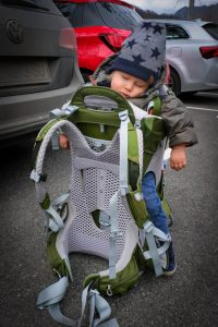 child carrier, Osprey, traveling with kids