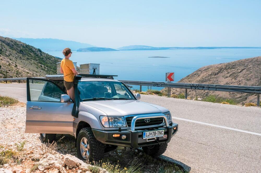 Krk Island, Krk Croatia, summer on Krk island