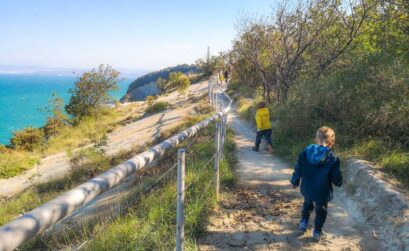 Strunjan, moon bay, hiking path
